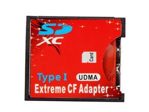 TeKit SD SDHC SDXC to High-Speed Extreme Compact Flash CF Type I Adapter For 16/32/64/128 GB,UDMA Extreme CF adapter converter
