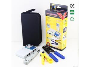 4 in 1 Network Tester Toolkit NF-1202 Cable Stripper Punch Down + RJ45 Plug Crimp Tool