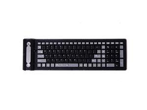 Flexible 2.4g Mini Wireless Silicone Keyboard Spillproof Roll up Portable Folding Pocket Silent Typing Silicone Keyboard