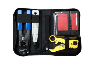 Network Toolkit Cable Tester + Punch Down + RJ45 Plug Crimp Tool NF-1201