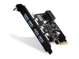 4 Ports PCI-E to USB 3.0 Expansion Card with 4 Pin Power Connector for Desktop Computer,Pci 4 Port USB 3.0 Express Card with 5v 4 Pin Power Connector (4 Port Usb 3.0)