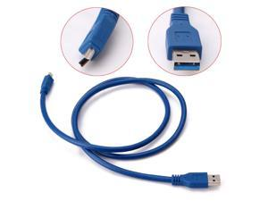 USB 3.0 Male to Mini-USB mobile hard disk data cable mini T-type cable ,SuperSpeed USB 3.0 Type-A Male to Mini USB 10-Pin B Cable(5ft/1.8m)