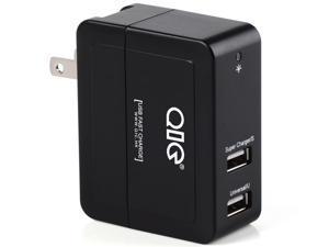 QIC WE2U-4A 2 Ports Smart Wall Charger 20W 4A(Max) - Black