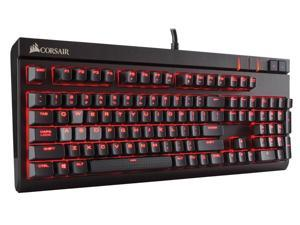Corsair STRAFE Mechanical Gaming Keyboard, Red LED, Cherry MX Brown