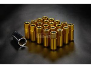 GODSPEED PROJECT TYPE-5 T-5 WHEEL RIM RACING LUG NUTS 55MM 20 PIECE M12 X 1.25 GOLD