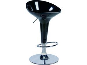 BLACK PERFECTLY CARVED ABS BAR STOOLS - IDEAL FOR THE KITCHEN BREAKFAST BAR