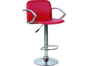 RED STYLISH PVC BAR STOOLS - PERFECT FOR THE KITCHEN BREAKFAST BAR