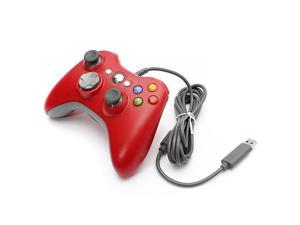 USB Wired Game Pad Joypad Gamepad Controller For MICROSOFT Xbox 360 Xbox360 & Slim PC Win7/XP Game System Red