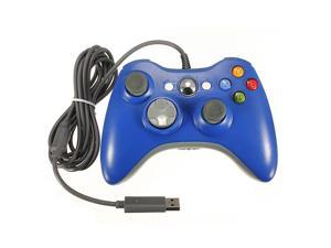 USB Wired Game Pad Joypad Gamepad Controller For MICROSOFT Xbox 360 Xbox360 & Slim PC Win7/XP Game System Blue