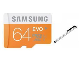 Samsung 64GB 64G microSDXC microSD microSDHC SD SDHC SDXC EVO Memory Card SAMEVO64G Class 10 UHS-I UHS-1 for Galaxy S3 S4 S5 NOTE 2 3 II III w/ STYLUS TOUCH SCREEN PEN