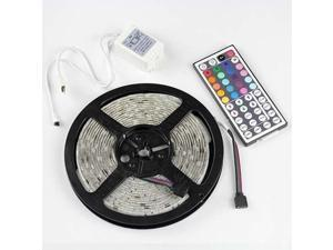 5 Meters 16.4ft 300 SMD RGB 5050 Waterproof Color Chaning LED Strip light + 44 Key IR Remote Controller