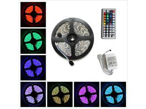 LED4everything (TM) 5M SMD RGB 5050 Waterproof LED Strip light 300 44 Key IR Remote Controller