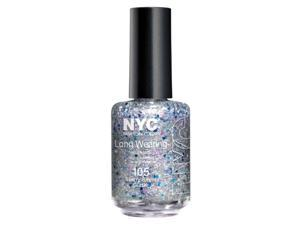 NYC Long Wearing Nail Enamel - Starry Silver Glitter