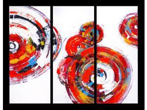 Abstract spirals painting trio