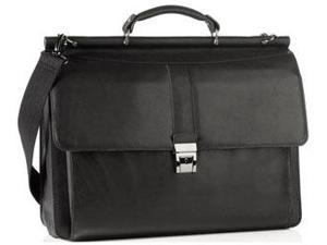 Kenneth Cole Briefcases Reaction Columbian Leather Laptop Portfolio - Black