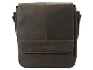 Kenneth Cole Briefcases Leather Flapover Ipad Day Bag - Dark Brown