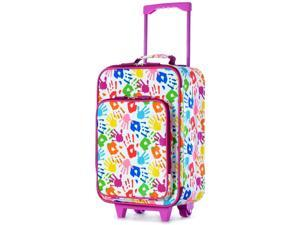 Olympia Kids Wheeled Carry On Trolley - Handprint