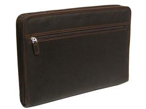 Passage 2 Collection Vaquetta Leather Underarm Fanfile Brief - Caf