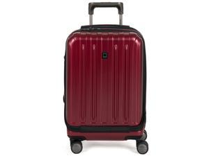 Delsey Titanium International Carry-On Expandable Spinner Trolley - Black Cherry