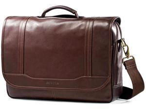 Samsonite Durham Colombian Leather Briefcases - Brown