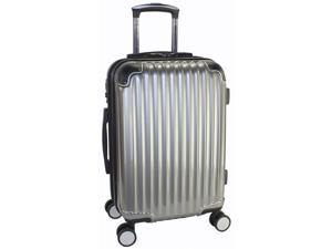 "Kenneth Cole Reaction First Impression 20"" Expandable Spinner Carry On - Dark Silver"