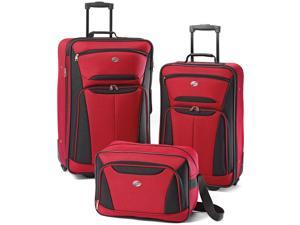 American Tourister Fieldbrook II 3 Piece Luggage Set - Red/black