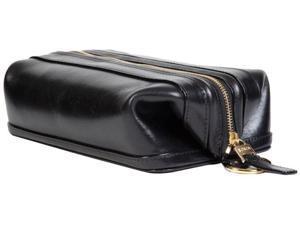 """Bosca 10"""" Dopp Kit Black Old Leather"""