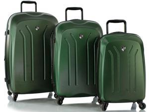 Heys America Lightweight Pro Expandable 3 Piece Spinner Luggage Set - Green