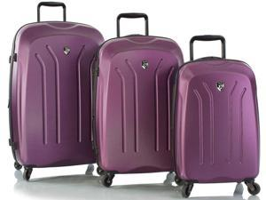 Heys America Lightweight Pro Expandable 3 Piece Spinner Luggage Set - Purple