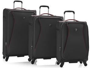 Heys America Helix Collection Expandable 3 Piece Luggage Set - Black