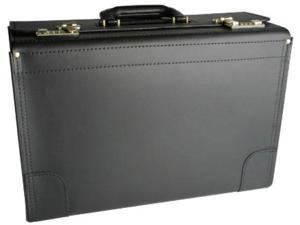 "Korchmar Workhorse Deluxe Top Grain Leather 20"" Catalog Case - Black"
