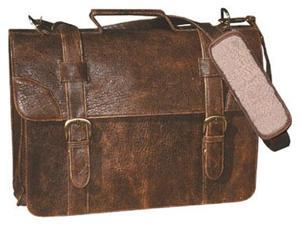 Scully Leather Satchel Brief - Brown