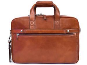 Bosca Old Leather Single Gusset Stringer Bag - Amber
