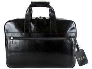 Bosca Old Leather Single Gusset Stringer Bag - Black