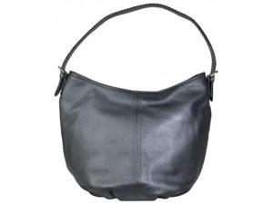 Hadaki Leather Slouchy Hobo Metallic Blue