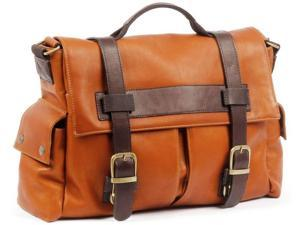 Claire Chase Leather Sochi Messenger Bag - Saddle