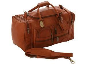 """Claire Chase Vaquetta Leather 20"""" Executive Sport Duffel - Saddle"""