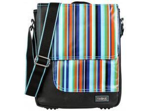 Hadaki On The Run iPad Messenger Bag Mardi Gras Stripes