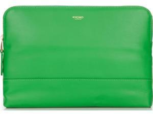 Knomo Mayfair Leather Davies Double Zip Crossbody - Green