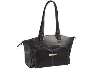 """Clark & Mayfield Alder 15.6"""" Leather Laptop Handbag - Black"""