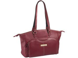 """Clark & Mayfield Alder 15.6"""" Leather Laptop Handbag - Red"""