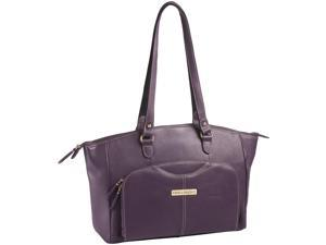 "Clark & Mayfield Alder 15.6"" Leather Laptop Handbag - Purple"