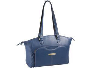 """Clark & Mayfield Alder 15.6"""" Leather Laptop Handbag - Blue"""