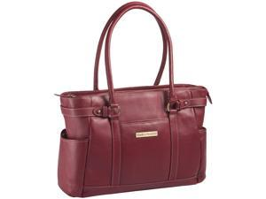 "Clark & Mayfield Hawthorne 17.3"" Leather Laptop Handbag - Red"