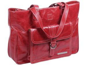 "Clark & Mayfield Stafford Vintage Leather 17.3"" Red"