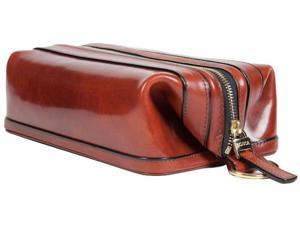 "Bosca 10"" Dopp Kit Cognac Old Leather"