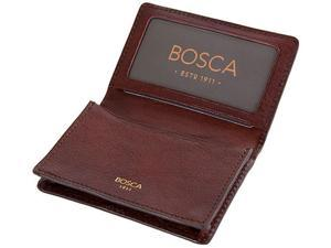 Bosca Washed Old Leather Full Gusset 2 Pocket Card Case with ID Dark Brown