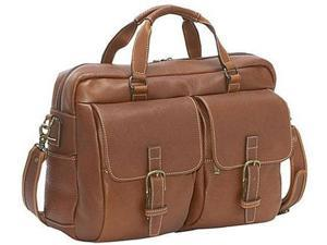 Korchmar La Romana Collection Leather Compact Laptop Brief - Chocolate