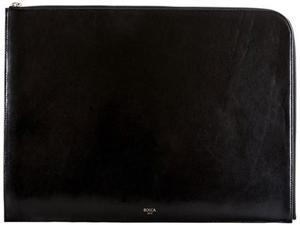 "Bosca Old Leather 16"" Envelope Black               - Black"