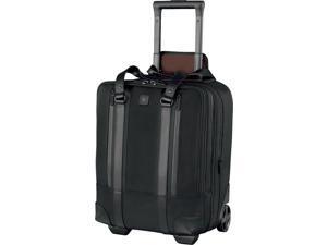 "Victorinox Lexicon Professional Century Vertical 15.6"" Expandable Overnight Wheeled Laptop Case Black"